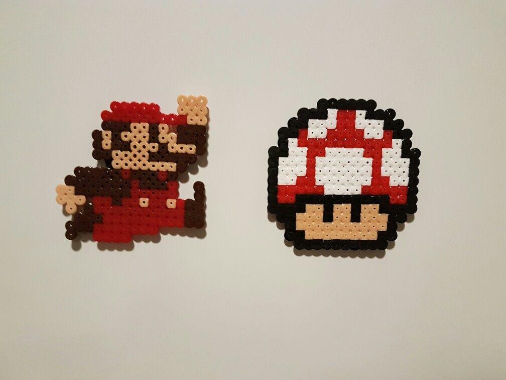 Primera creación Mario y seta hama