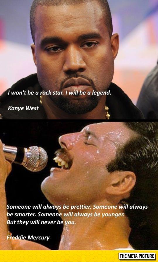 A Poser Vs A True Legend True Legend Wonderful Words Music Is Life