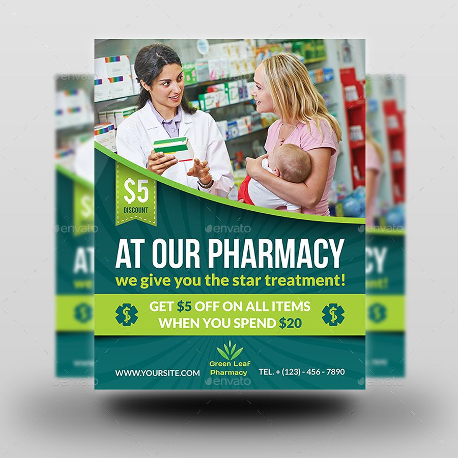 Pharmacy Advertising Bundle Free brochure template
