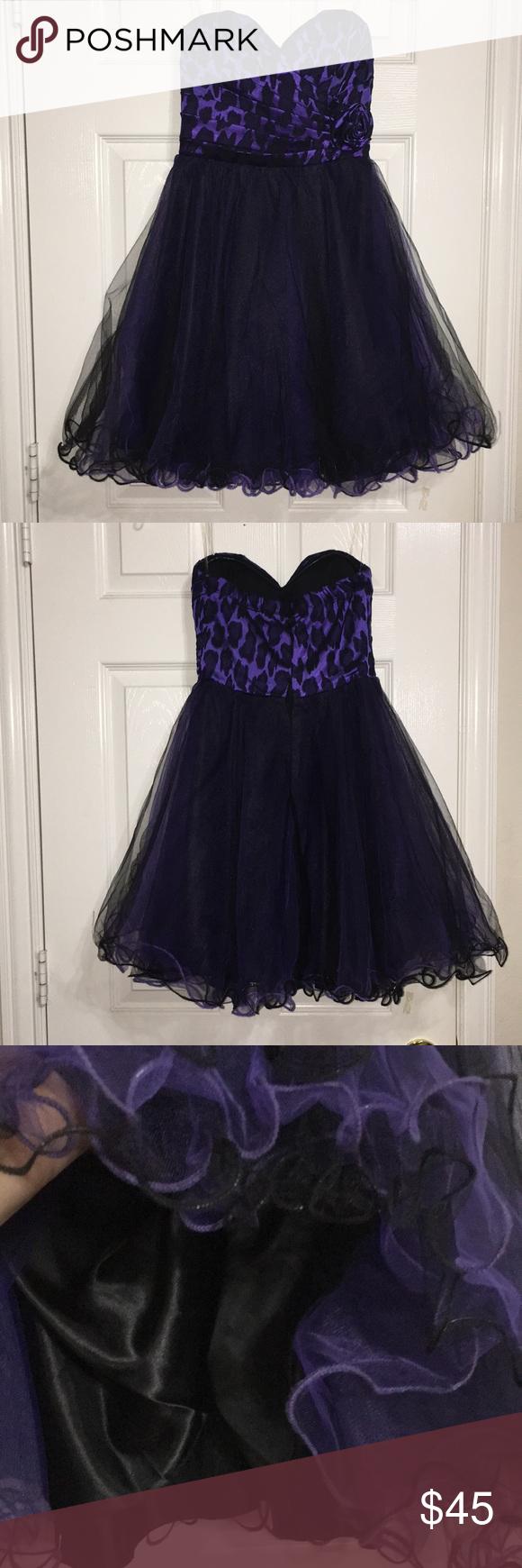 Blackpurple semiformal dress semi formal dresses overlays and