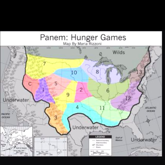 Map Of Panem From The Hunger Games Jessica Nelson Would Of Been - Hunger games us map