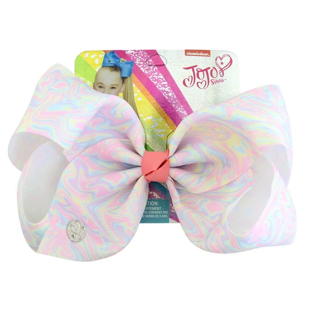 Light Pink Rainbow Hair Bows Girls Diamante Hair Clip Accessories 12cm