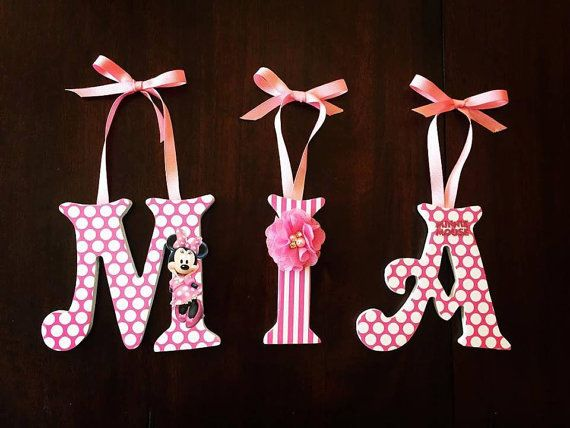 Minnie Mouse For Paisley Minnie Mouse Nursery Hanging Letters Polka Dot Letters