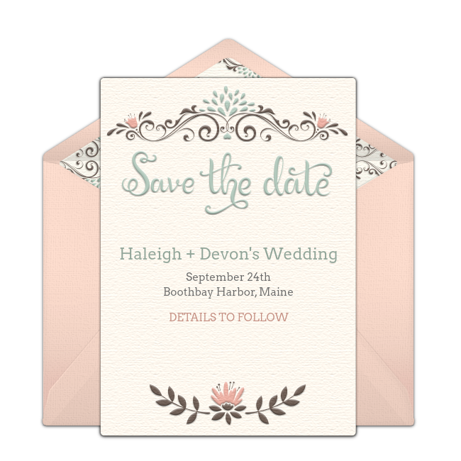 free online wedding save the date templates