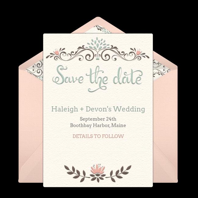 free rustic wedding save the date invitations invitations