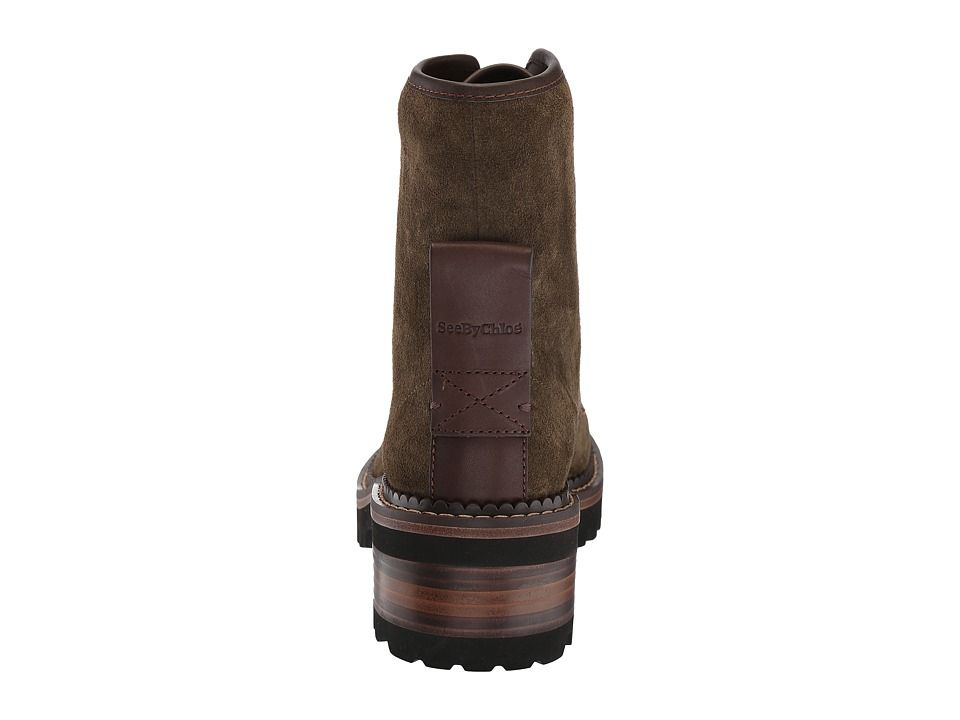 745a7710 See by Chloe SB31040A Women's Boots Loden Crosta/Natural Calf ...