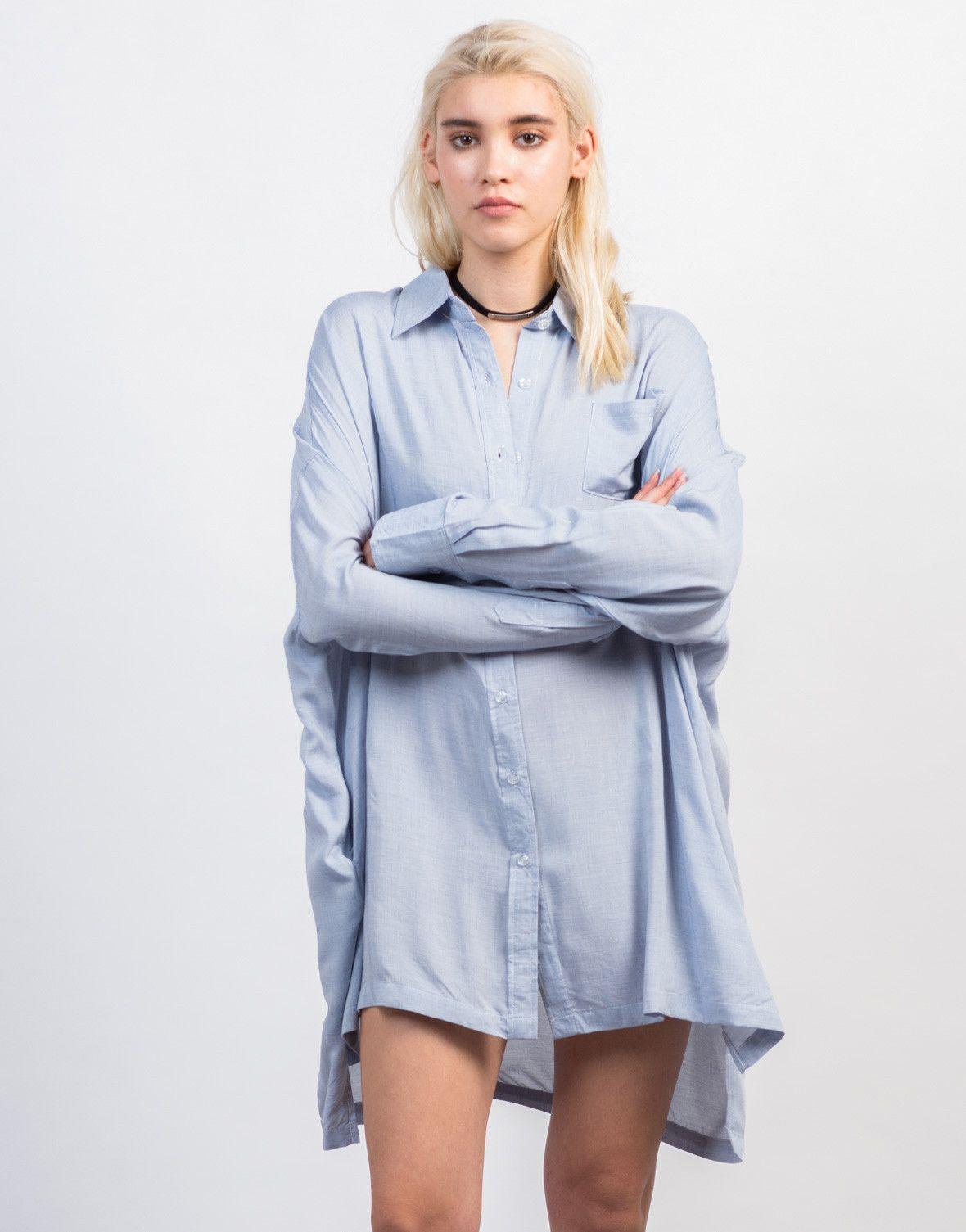 45079c5a11c8 Oversized Button Up Shirt | wants | Shirts, Button up shirts, Denim ...