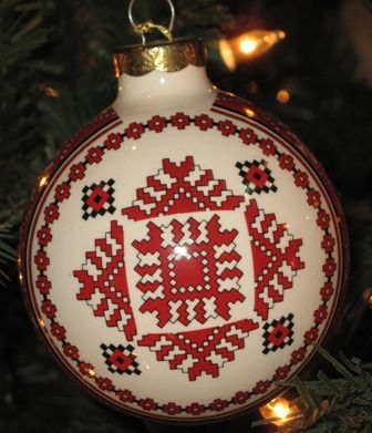 Christmas Tree Ornament Ceramic Ornaments Christmas Bauble Ceramic Round decoration Hand Painted Christmas Decor Christmas Ornament