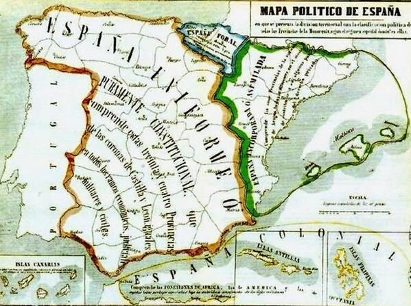 Carmen Averias On Historical Maps Map Of Spain Map