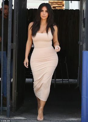 fd88ee51f807 ACKCITY NEWS  Kim Kardashian Shows Off Her Body in Figure Hugging Outfit