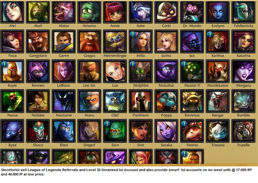 sell league account