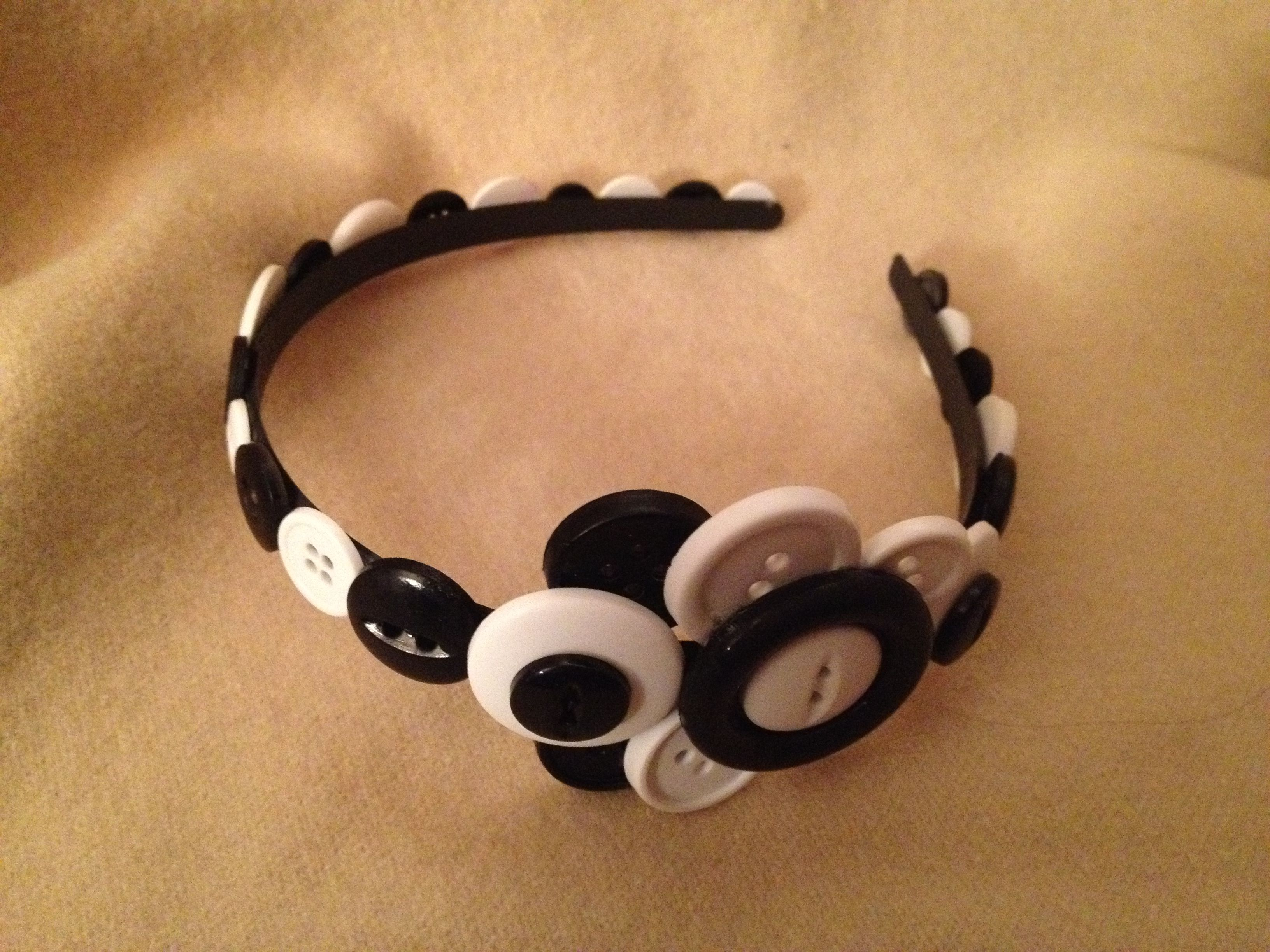 black and white with abstract butterfly button cluster
