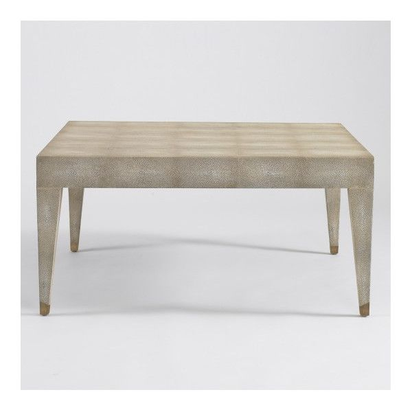 klein ivory shagreen coffee table | a stark statement in faux