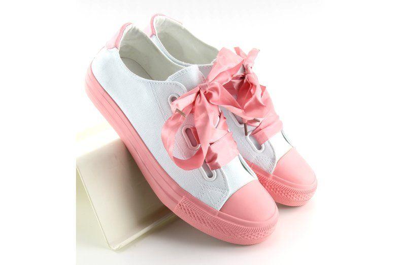 Trampki Ze Wstazkami Bialo Rozowe Dc11 Biale Shoes Baby Shoes Puma Sneaker