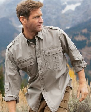 Cabela S Cabela S Serengeti Safari Ii Long Sleeve Shirt Tall Safari Shirt Casual Shirts For Men Military Shirts