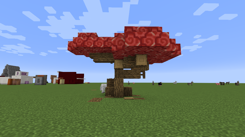 Made My First Custom Tree A Maple Tree Using Red Terracotta I Actually Think It Worked Well Somehow Via R Minec In 2021 Minecraft Architecture Minecraft Terracotta