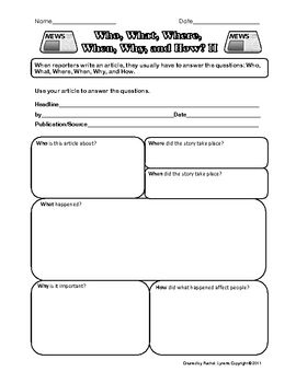 Current Events Printables