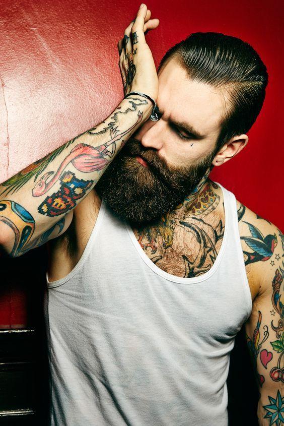At Canuzunc Mens Beard And Piercing Barba Hombre Barba Sin