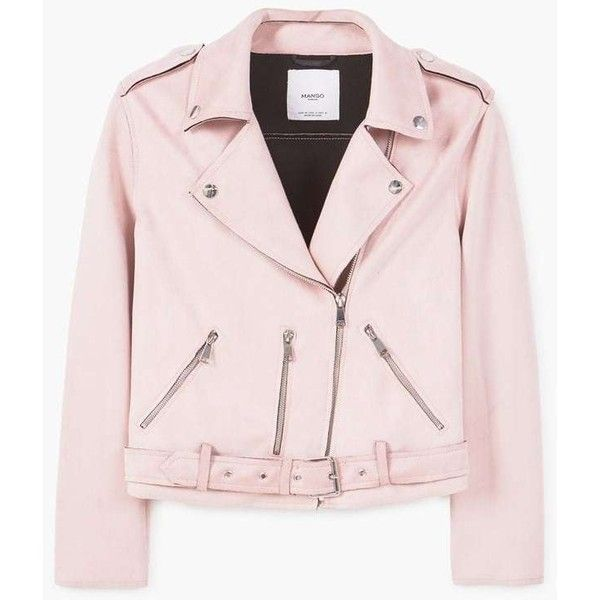 MANGO Crop biker jacket (1.600 ARS) ❤ liked on Polyvore featuring outerwear, jackets, long sleeve jacket, zip jacket, lapel jacket, moto biker jacket and rider jacket