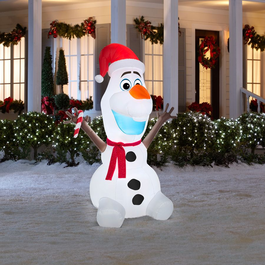 Olaf from frozen xmas blow up | Disney christmas ...