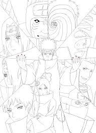 Hasil Gambar Untuk Akatsuki Coloring Pages Coloriage Naruto Coloriage Tatouage Biomecanique
