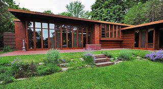 Usonian Visitor's Center @ FSC...a view from the library: The Official First Usonian Home