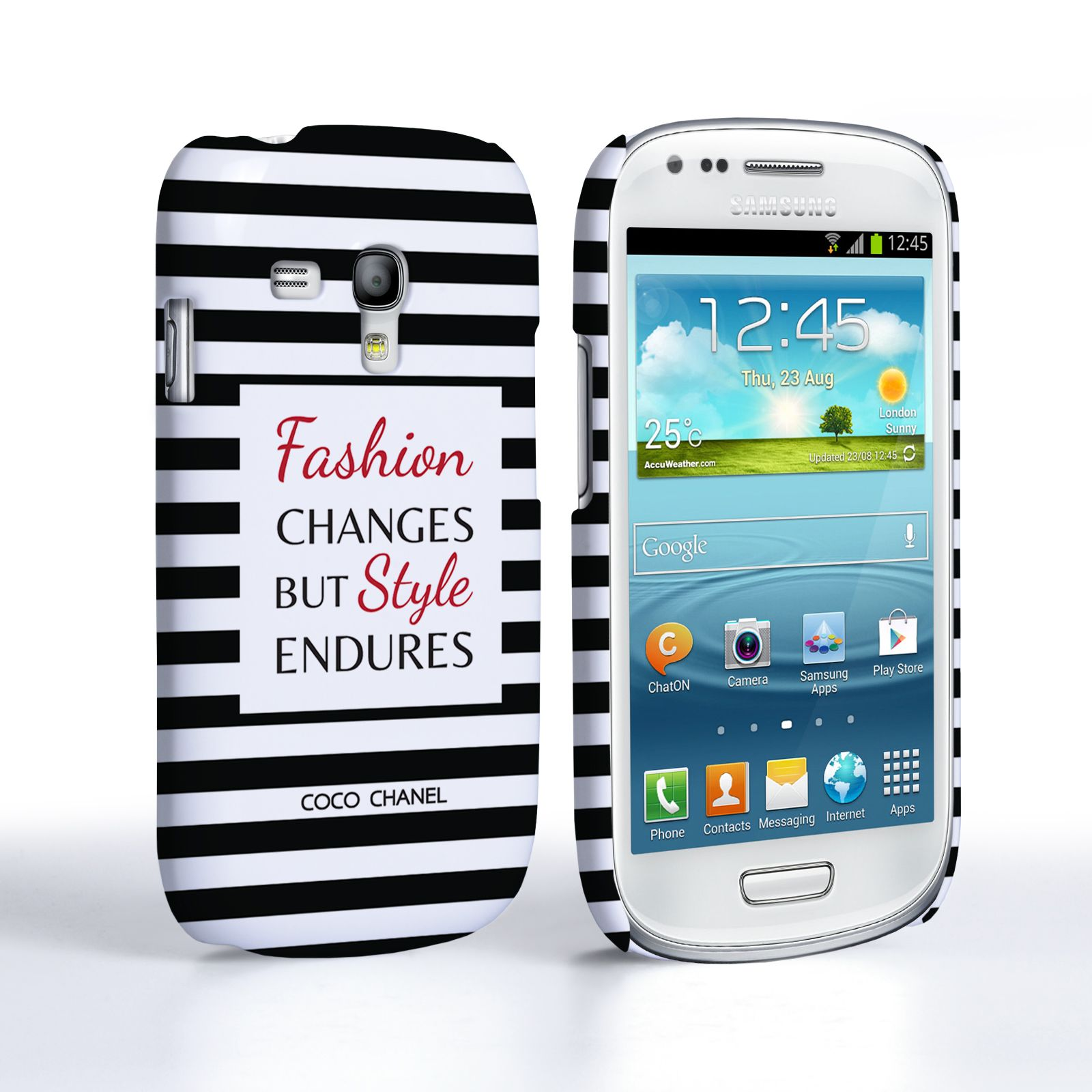 Samsung Quote Caseflex Samsung Galaxy S3 Mini Chanel 'fashion Changes' Quote