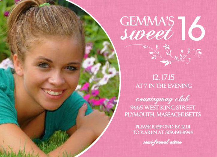 sweet 16 birthday invitations ideas for anna invitation ideas
