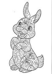 Cat Zentangle Drawing Coloring Pages Cat Zentangle Drawing In 2020 Ostern Zeichnen Ausmalbild Hase Ostern Hasen Basteln