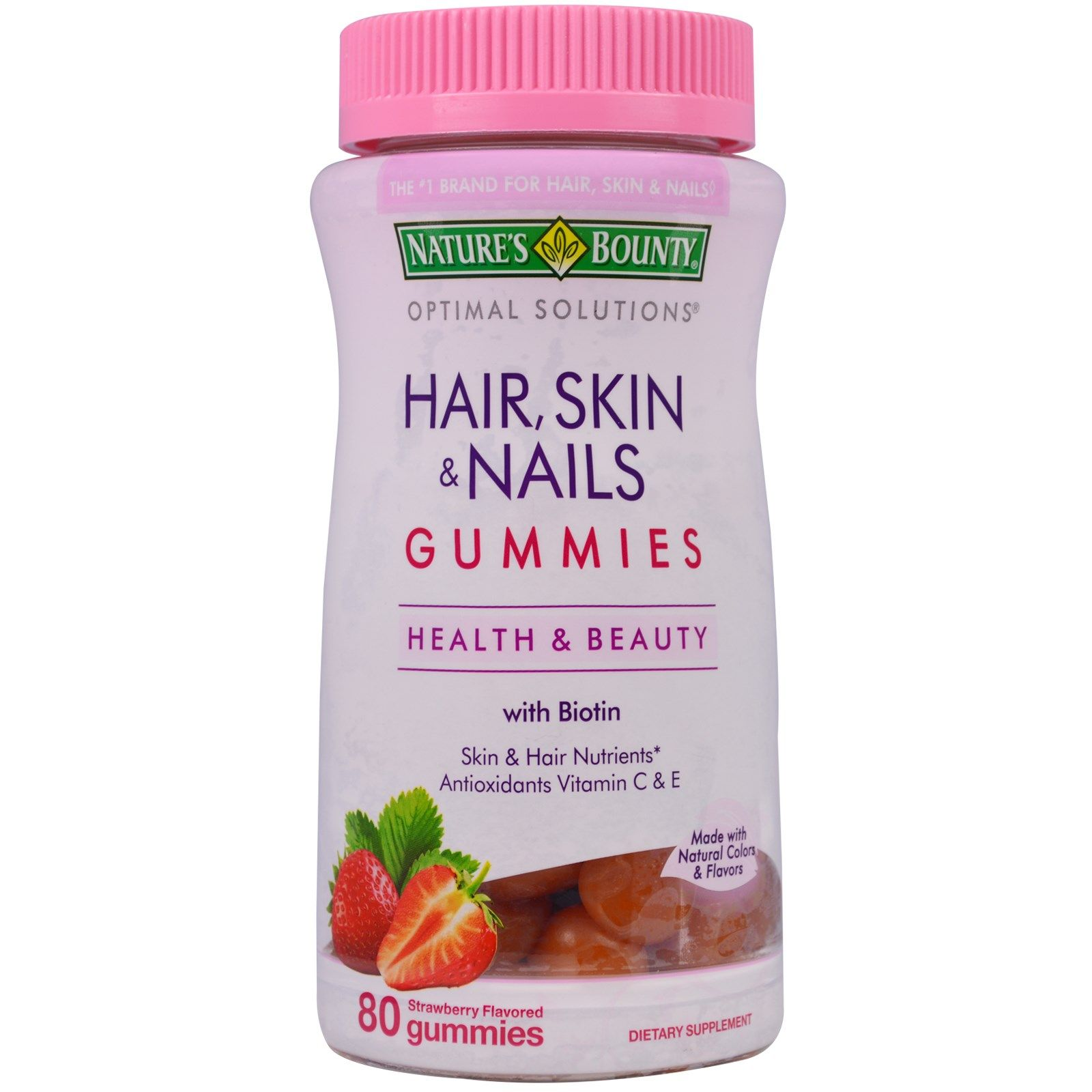 Nature\'s Bounty, Optimal Solutions, Hair, Skin & Nails Gummies ...