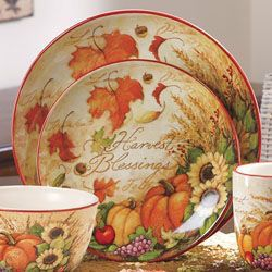 Thanksgiving Dinnerware Thanksgiving Table Thanksgiving Blessings Dinnerware Sets Fall Decorating Autumn Fall Fall Table Settings Place Settings ... & Pin by Roxie\u0027s Rainey Day Projects on Thanksgiving | Pinterest ...