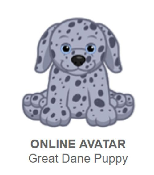 Webkinz Great Dane Puppy (*promo pet*) Code Only Webkinz