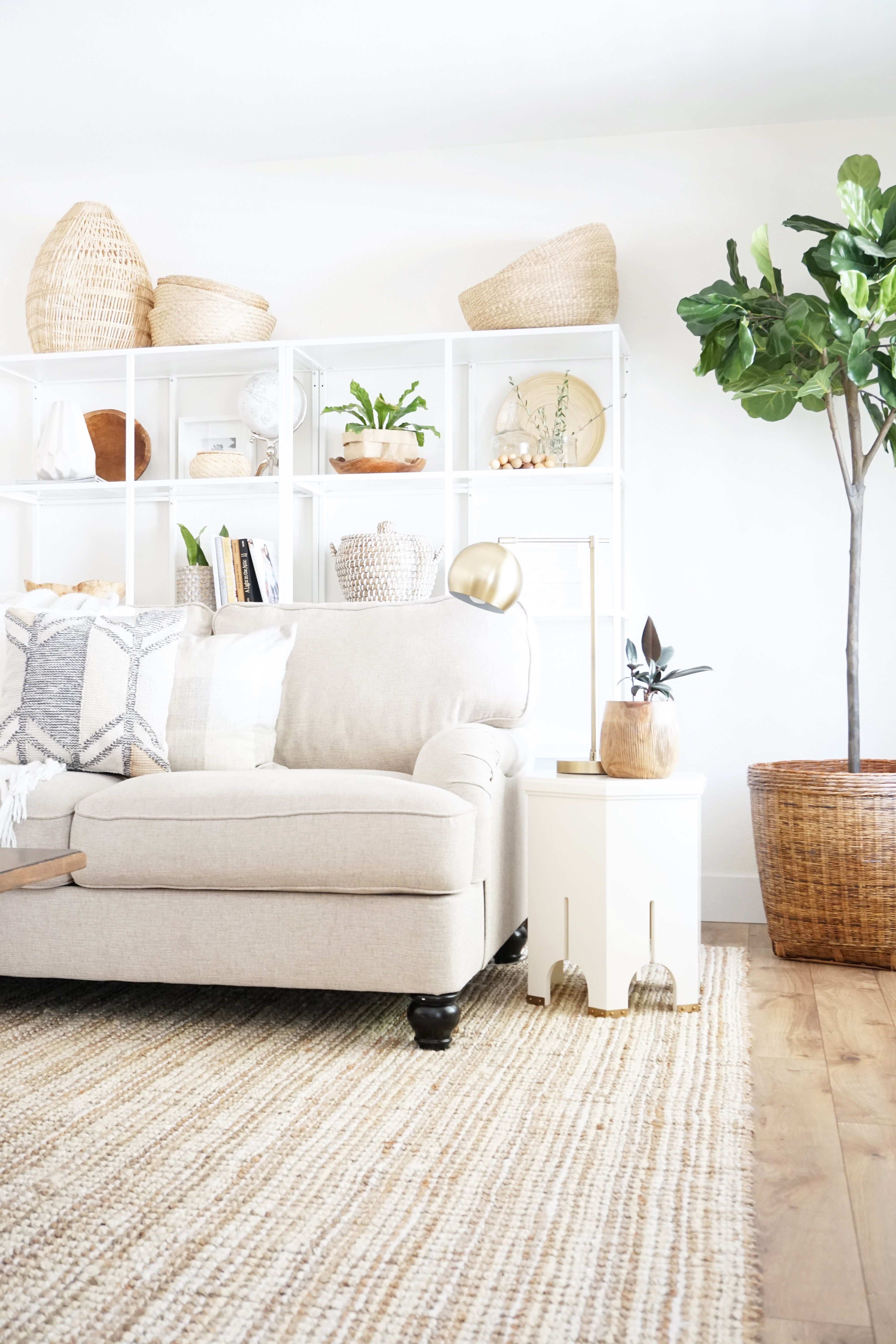 our neutral natural easy living fall living room 2017