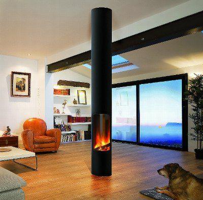 cheminee slimfocus foyer sur pied central ferm hublot design contemporain compatible bbc. Black Bedroom Furniture Sets. Home Design Ideas