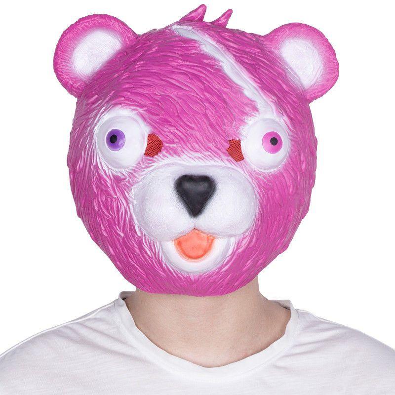 fortnite mask bear cuddle team leader latex costume cosplay