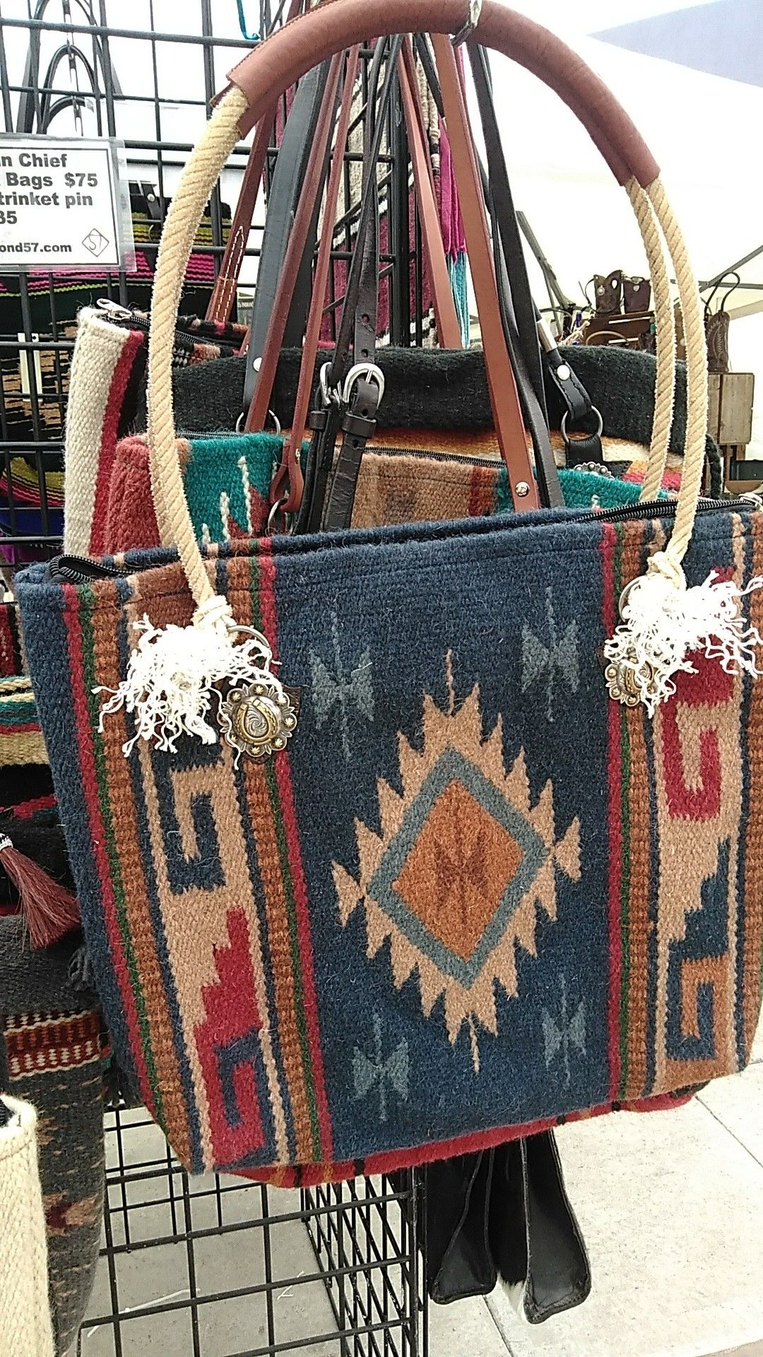 Woven SaddleBlanket Tote Bag