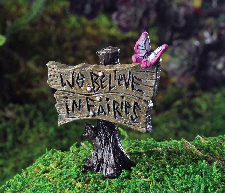 Miniature Erfly Sign We Believe In Fairies Https Www