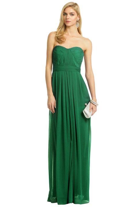 Emerald maxi bridesmaid dress option A Badgley mischka on ...