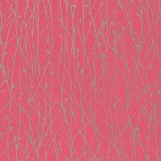 Clarissa Hulse Grasses wallpaper hot pink