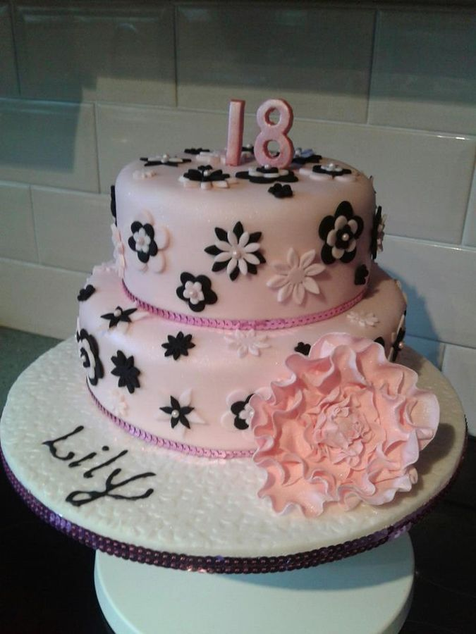 Happy 18th Birthday Cake Leopard Print High Heel Shoes 18th