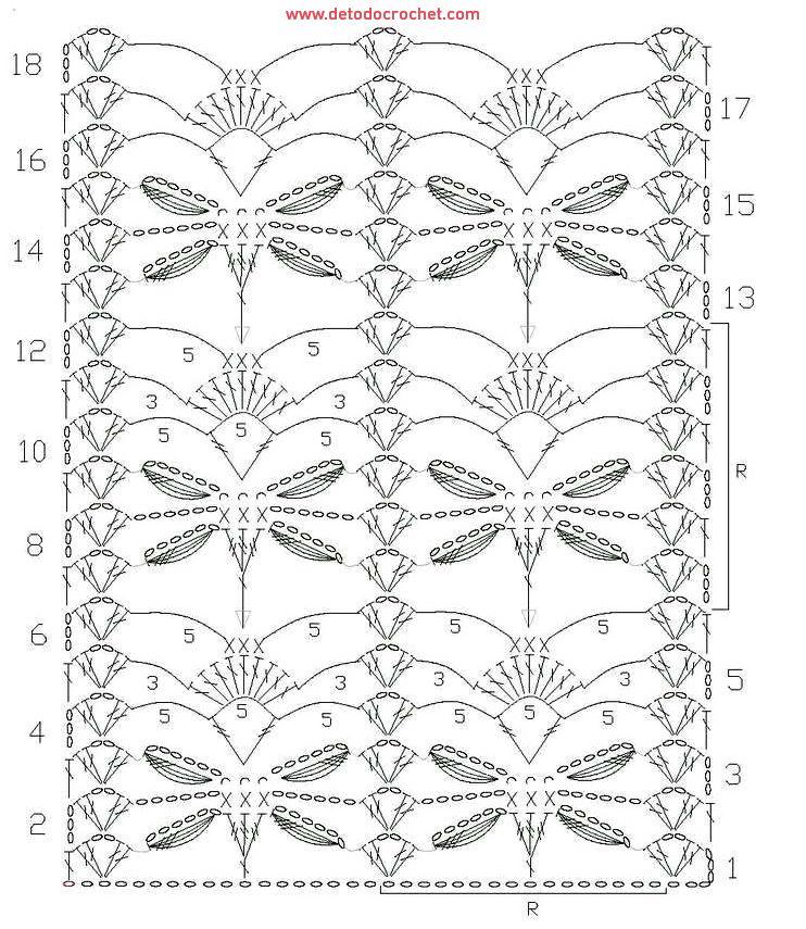 18-patron-crochet.jpg (742×855) | PUNTOS A CROCHET Y OTROS ...