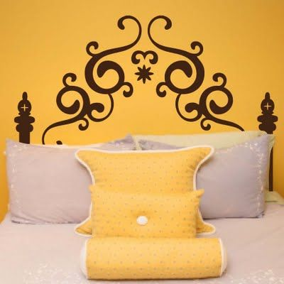 painted headboard swirls - Google Search | Painted Headboards ...
