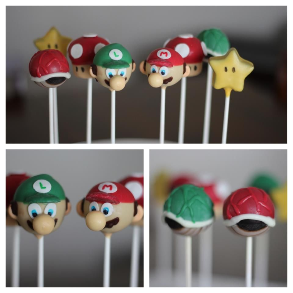 super mario bros cake pops
