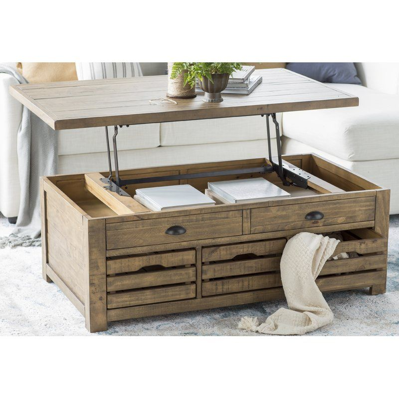 Senoia Lift Top Cocktail Table With Storage Coffee Table With