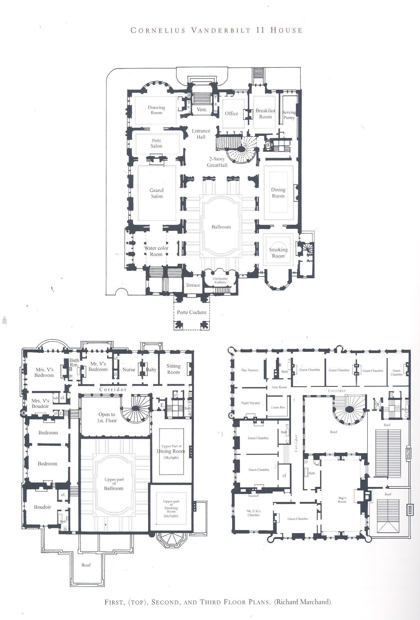 Castle House Plans With Turrets: Fabulous Floor-Plans In 2019