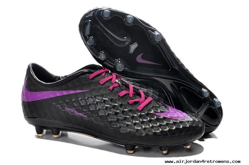 Football boots nike hypervenom phantom fg black purple