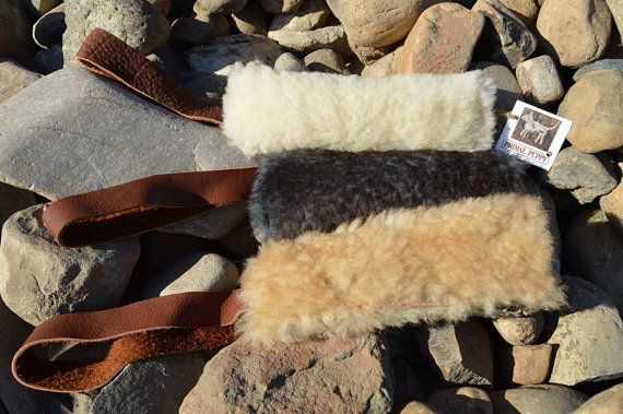 Dog Tug Toy Durable Real Sheepskin By Primal Puppy Dogs Tug