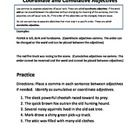 Coordinate Adjectives And Cumulative Adjectives Worksheet