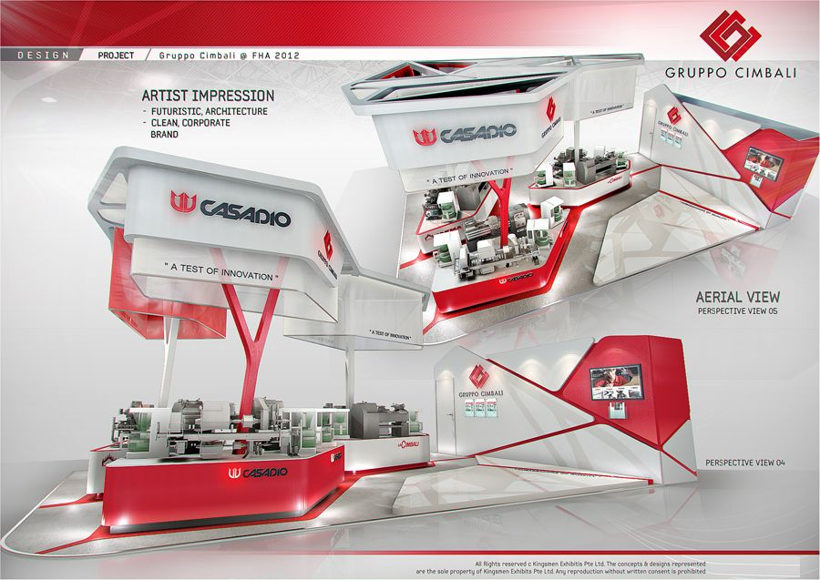 Exhibition Stall Presentation : Standard booth by amornwat osodprasit at coroflot