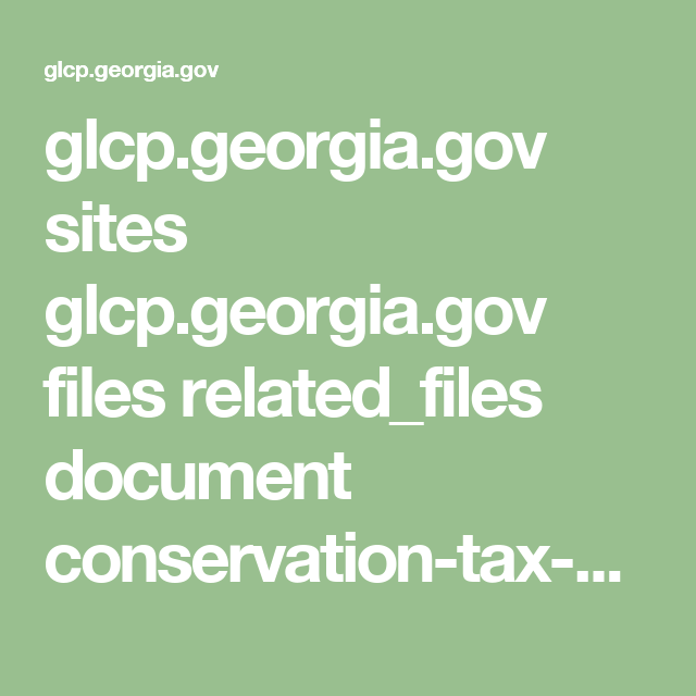GlcpGeorgiaGov Sites GlcpGeorgiaGov Files RelatedFiles